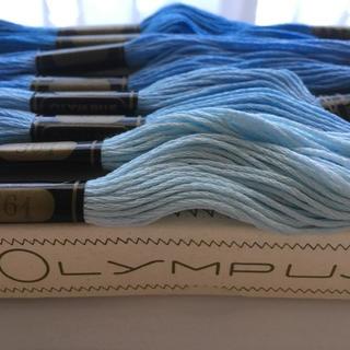 オリンパス(OLYMPUS)の 刺繍糸 オリムパス25番 青色系8本セット(生地/糸)