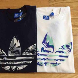 アディダス(adidas)の数量限定 白&紺 L 2枚✨ adidas originals Tシャツ(Tシャツ/カットソー(半袖/袖なし))