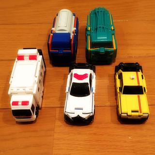 バンダイ(BANDAI)の変身するミニカー ブーブ 5台セット 救急車 パトカー タクシー(ミニカー)