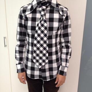 アダマイト(ADAMITE)のチェックシャツ M〜L 長袖襟付きシャツ✨(シャツ)