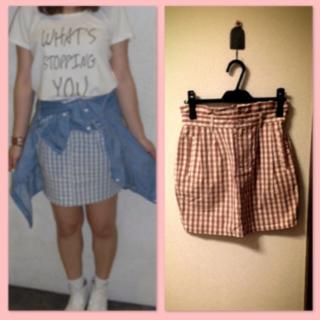 ローリーズファーム(LOWRYS FARM)のローリーズ♡ギンガムタイトスカート♡(ミニスカート)