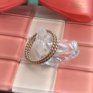 新 品18号2個セットサージカルステンレスピンクゴールド☆ツイストリング指輪(リング(指輪))
