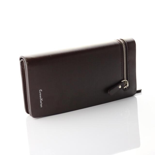 丈夫なイタリア財布♪高品質多収納☆ブランド本革レザー☆ブラック メンズのファッション小物(長財布)の商品写真