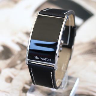 近未来フォルム☆LEDブラックミラー☆アルマーニ・D&G好き必見(腕時計(デジタル))