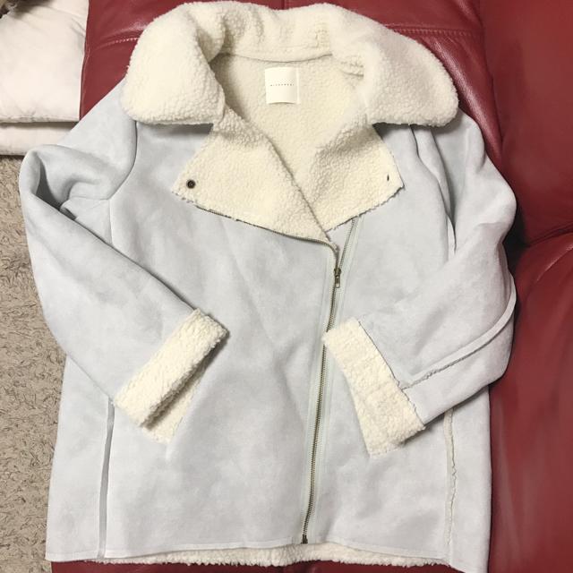 ミコアメリ/フェイクムートンライダースボアコート レディースのジャケット/アウター(ムートンコート)の商品写真