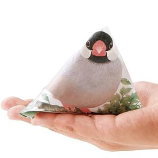 フェリシモ(FELISSIMO)のフェリシモ 手乗り文鳥のテトラぽち袋 6枚(カード/レター/ラッピング)