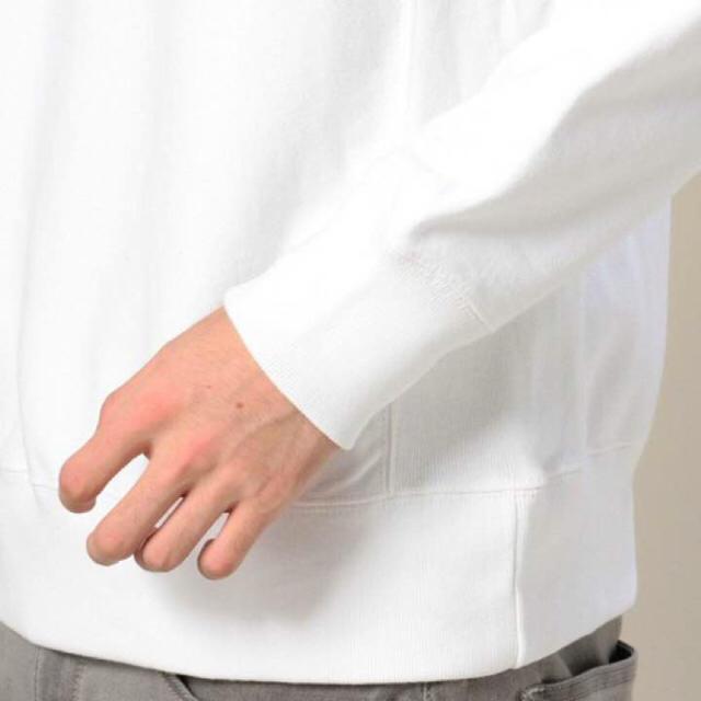 新品 DELANCI ボックスロゴ スウェット L デランシー トレーナー 白 メンズのトップス(スウェット)の商品写真
