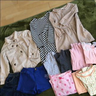 エイチアンドエム(H&M)のブランド多数*長袖コート、ワンピース他女の子120〜130おまとめ13点(ワンピース)