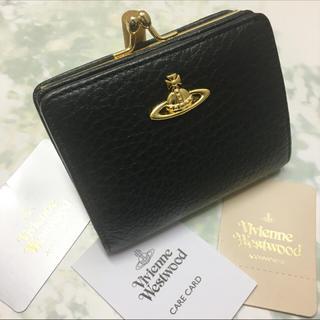 ヴィヴィアンウエストウッド(Vivienne Westwood)の新品☺︎Vivienne Westwood ヴィヴィアン オーブ がま口 黒(財布)