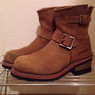 アヴィレックス(AVIREX)のアヴィレックス茶色ショートブーツ(ブーツ)