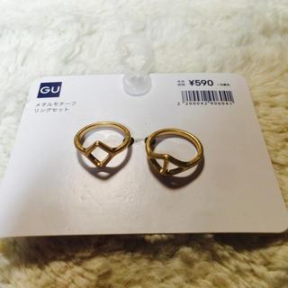 ジーユー(GU)のGU★合金 GOLD リング★メタルモチーフ リングセット(リング(指輪))