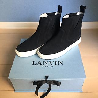 ランバンオンブルー(LANVIN en Bleu)の美品☆LANVIN PARIS スリッポン ハイカット