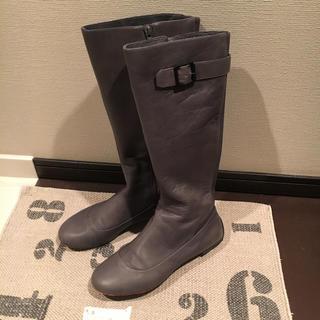 ツボ(TSUBO)のTsubo ✴︎ 本革ロングブーツ ✴︎25㎝(ブーツ)