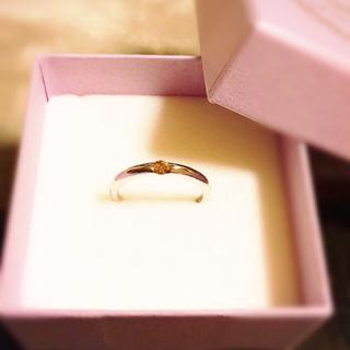 天然ブラウン・ダイヤモンド・リング!シルバー925の指輪。12号・結婚運UP(リング(指輪))