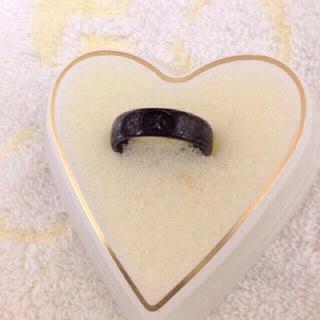 アガット(agete)のお値下げ◎ageteのクロスリング(黒)(リング(指輪))