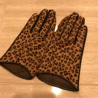 アンタイトル(UNTITLED)のアンタイトル ハラコ レオパード柄 レザー手袋(手袋)