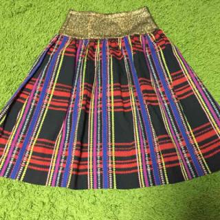 ツモリチサト(TSUMORI CHISATO)の30000↓ツモリチサト★ドレスラインチェックのボリュームスカート(ロングスカート)