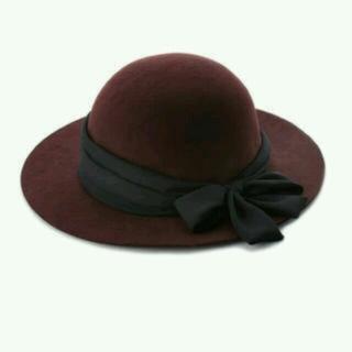 リリーブラウン(Lily Brown)のlilybrownシフォンリボン女優帽(ハット)