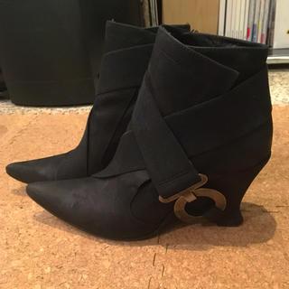 ダークビッケンバーグ(DIRK BIKKEMBERGS)のブラック 革 ショートブーツ ♡良品♡DIRK BIKKEMBERGS👢(ブーツ)