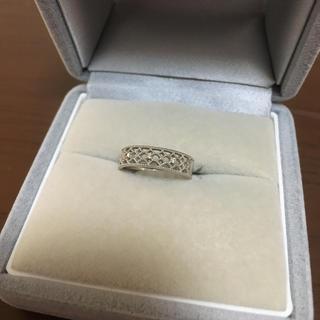 専用出品☆10Kホワイトゴールド ダイヤモンドピンキーリング(リング(指輪))
