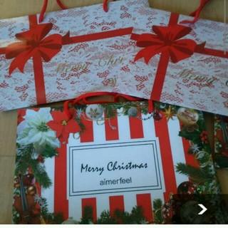 エメフィール(aimer feel)の新品!エメフィールクリスマス限定ショップ袋 ショッパー(ショップ袋)