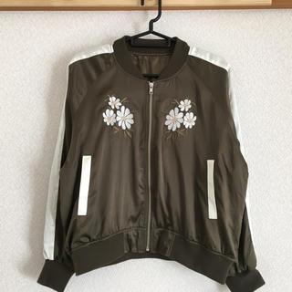 シマムラ(しまむら)のなな♡様  5日までお取り置き   新品 刺繍入りスカジャン   (スカジャン)