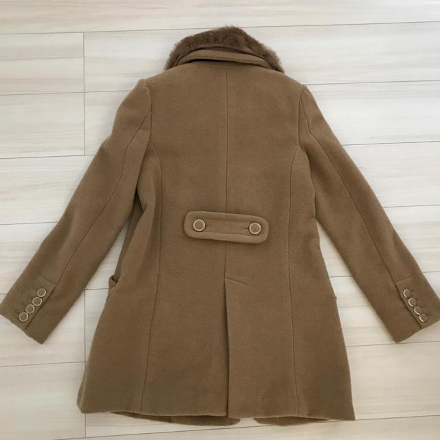 INGNI(イング)のINGNIファー付きコート♡ベージュ レディースのジャケット/アウター(毛皮/ファーコート)の商品写真