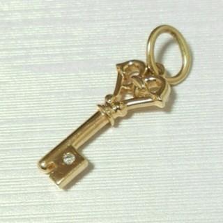 アガット(agete)のagate K10ネックレストップ☆ダイヤ付き(ネックレス)