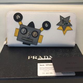 プラダ(PRADA)のクリスマスセール日本未入荷❤️プラダ新品ロボットサファイアノバイカラーサイフ(財布)