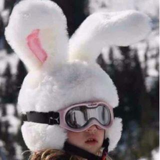 【日本未発売 ラスト1点】スノーボード 激かわ うさぎ帽子(ウエア/装備)
