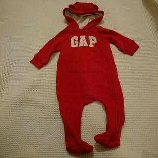 5af47e3b9509c6 ベビーギャップ(babyGAP)の値下げ♡baby gap 足つきクマ耳カバーオール スウェット クリスマス