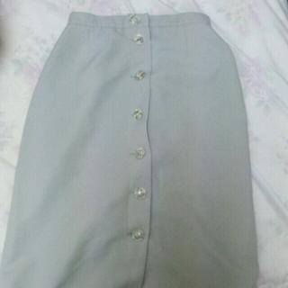 ロキエ(Lochie)のグレー 膝丈スカート(ひざ丈スカート)