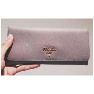 プラダ(PRADA)のprada ライトパープル 長財布(財布)