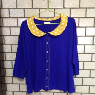クローズアップ(CLOSE-UP)のドルマンブルーシャツ(シャツ/ブラウス(長袖/七分))