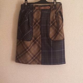 デンドロビウム(DENDROBIUM)のチェック  タイトスカート(ひざ丈スカート)