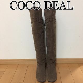 ココディール(COCO DEAL)のココディール購入 スタッズニーハイブーツ(ブーツ)