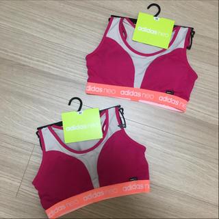 アディダス(adidas)の値下げ!新品‼︎ アディダススポーツブラ Mサイズ2点セット☆(ブラ)