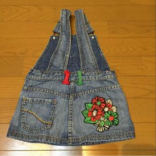 ザラキッズ(ZARA KIDS)のZARA  Kids ジャンパースカート 花柄刺繍(ワンピース)