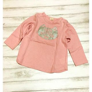 kid's zoo キッズズー 天竺ラメプリントTシャツ(Tシャツ)