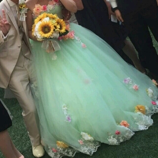 お花カラードレス♥(ウェディングドレス)