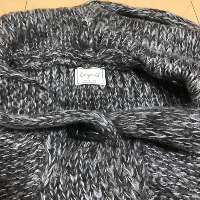 Ungrid(アングリッド)のungrid フードケーブルポンチョ ブラウン レディースのトップス(ニット/セーター)の商品写真