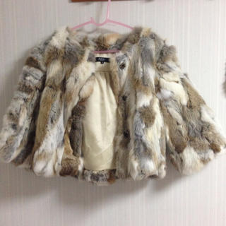 アズールバイマウジー(AZUL by moussy)のAZUL ファーコート(毛皮/ファーコート)