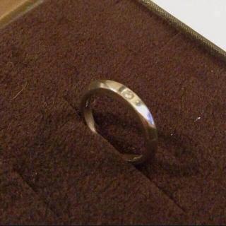 アガット(agete)のお値下げ❤︎Pt×ダイヤ シンプルリング(リング(指輪))