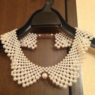ミスティウーマン(mysty woman)の付け襟パールネックレス(ネックレス)