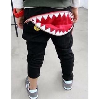 SALE中 韓国子供服 [ROKETSALADA]サメパンツ 07999C(パンツ/スパッツ)