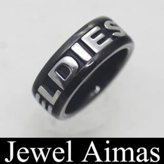 ディーゼル(DIESEL)のDIESEL リング 黒(リング(指輪))