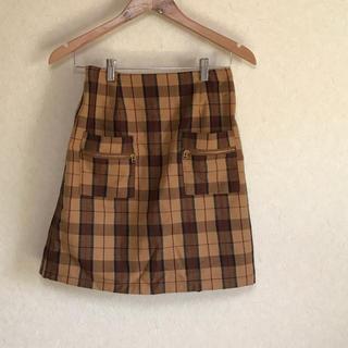 レイカズン(RayCassin)のチェックスカート(ひざ丈スカート)