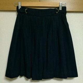 プーラフリーム(pour la frime)の格安★ネイビーウール膝丈スカート(ひざ丈スカート)