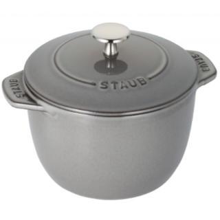 ストウブ(STAUB)のストウブ Staub ラ・ココット de GOHAN Mサイズ グレー(鍋/フライパン)