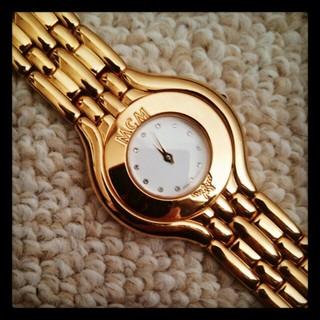 エムシーエム(MCM)のMCM*ゴールド腕時計♪動作確認済(腕時計)